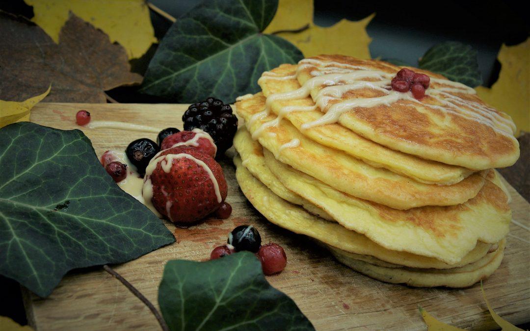 Pancakes mit Frischkäse