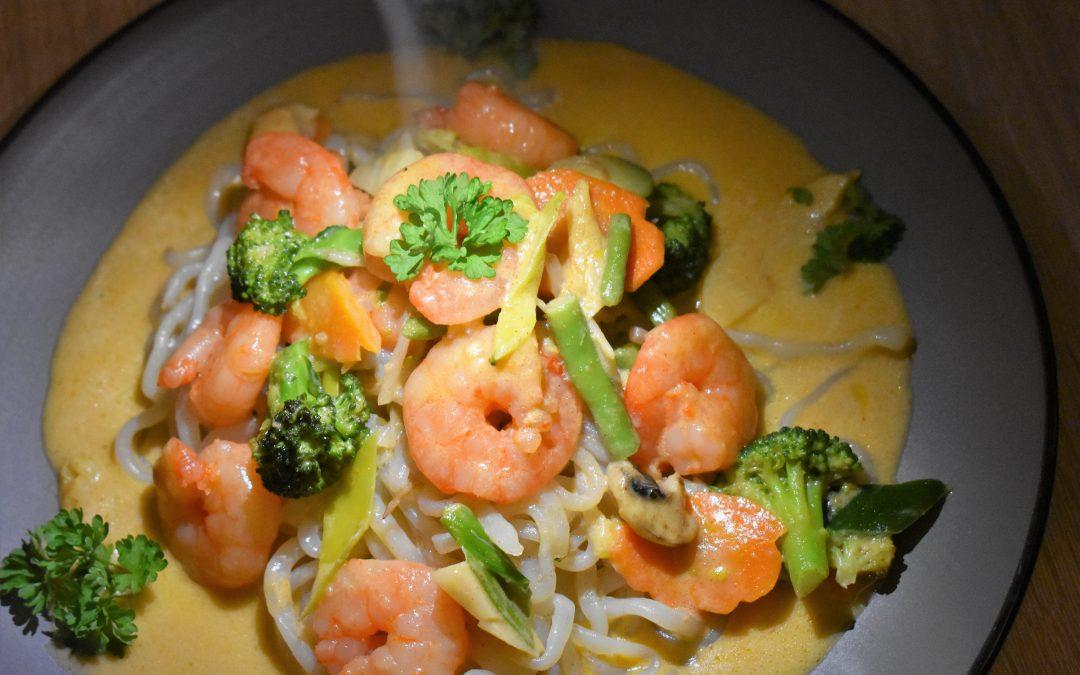 Garnelen Thai-Curry mit Konjak Nudeln